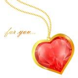 Corazón de rubíes Fotos de archivo libres de regalías