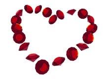 Corazón de rubíes Fotos de archivo