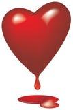 Corazón de sangría vidrioso Fotos de archivo