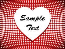 Corazón de semitono simple Imagen de archivo