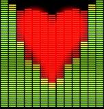 Corazón de Techno Imagen de archivo libre de regalías