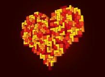 Corazón de Tetris Fotos de archivo