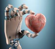 Corazón de un robot Imágenes de archivo libres de regalías