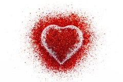 Corazón de Valentin Imagen de archivo libre de regalías