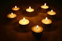 Corazón de velas Foto de archivo libre de regalías