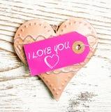 Corazón decorativo con el texto imágenes de archivo libres de regalías