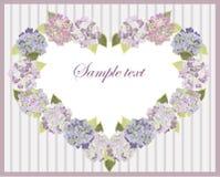 Corazón decorativo. Hydrangea. Imagen de archivo