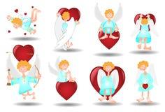 Corazón del ángel stock de ilustración