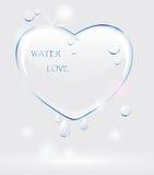 Corazón del agua Imagenes de archivo