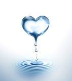 Corazón del agua stock de ilustración