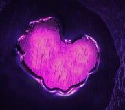 Corazón del agua fotografía de archivo libre de regalías