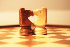 Corazón del ajedrez fotografía de archivo