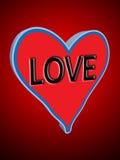 Corazón del amor ilustración del vector