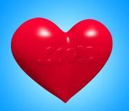 Corazón del amor Fotografía de archivo