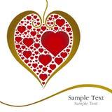 Corazón del amor Stock de ilustración