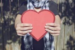Corazón del amor Imagen de archivo