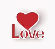 Corazón del amor. Fotos de archivo libres de regalías