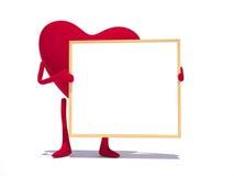 Corazón del amor con board2 Foto de archivo libre de regalías