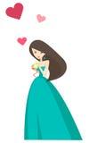 Corazón del amor de la muchacha Imágenes de archivo libres de regalías
