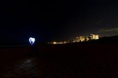 Corazón del amor de la playa de Collaroy Fotografía de archivo