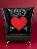 Corazón del amor de la tarjeta del día de San Valentín Imagen de archivo