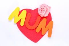 Corazón del amor del día de madres Fotografía de archivo libre de regalías