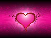 Corazón del amor del día de tarjetas del día de San Valentín Fotos de archivo libres de regalías
