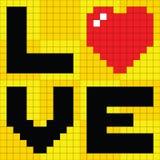 Corazón del amor del pixel Fotos de archivo libres de regalías