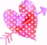 Corazón del amor del Watercolour stock de ilustración