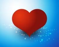 Corazón del amor en las estrellas Fotos de archivo libres de regalías