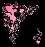 Corazón del amor. Esquina Imagen de archivo libre de regalías