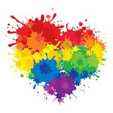 Corazón del arco iris libre illustration