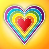 Corazón del arco iris Fotografía de archivo libre de regalías