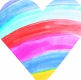 Corazón del arco iris Fotos de archivo