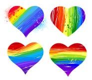 Corazón del arco iris stock de ilustración