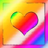 Corazón del arco iris Imagenes de archivo