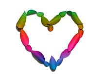 Corazón del arco iris del amor Fotos de archivo