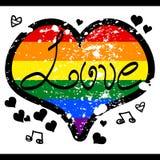 Corazón del arco iris del amor de LGBT Fotos de archivo