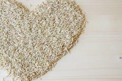 Corazón del arroz moreno Imagen de archivo