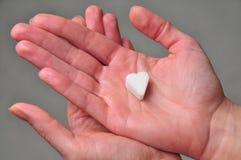 Corazón del azúcar Foto de archivo