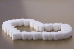 Corazón del azúcar Imagenes de archivo