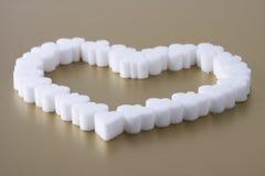 Corazón del azúcar Fotografía de archivo libre de regalías