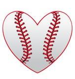 Corazón del béisbol Foto de archivo libre de regalías