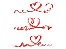 Corazón del backgroun del vector del día de tarjetas del día de San Valentín de la cinta stock de ilustración