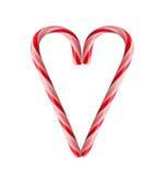Corazón del bastón de caramelo Fotos de archivo libres de regalías
