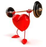 Corazón del Bodybuilding Foto de archivo libre de regalías