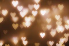Corazón del bokeh de la luz de la falta de definición del amor stock de ilustración