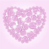 Corazón del brillo de las rosas Fotografía de archivo libre de regalías