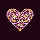 Corazón del brillo del oro del vector libre illustration