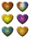 Corazón del cactus Imagenes de archivo